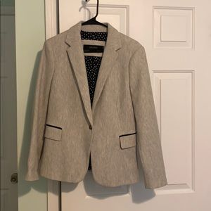 Zara wool blazer with patch elbow